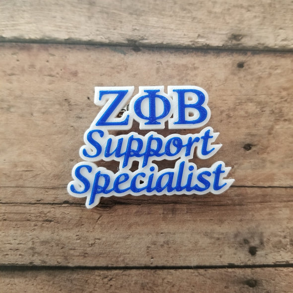 Zeta Phi Beta Support Specialist Pin - Inventory