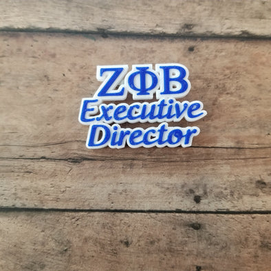 Zeta Phi Beta Executive Director Pin - Inventory
