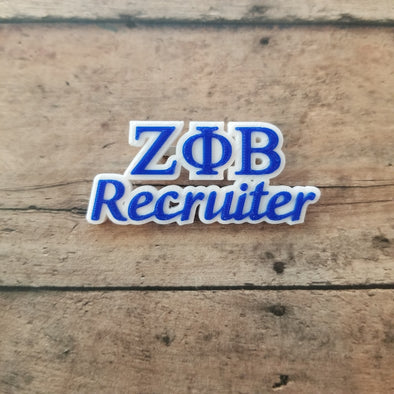 Zeta Phi Beta Recruiter Pin - Inventory