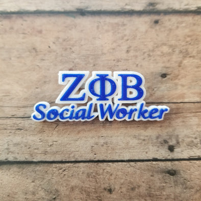Zeta Phi Beta Social Worker Pin - Inventory