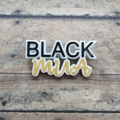 Black MUA pin