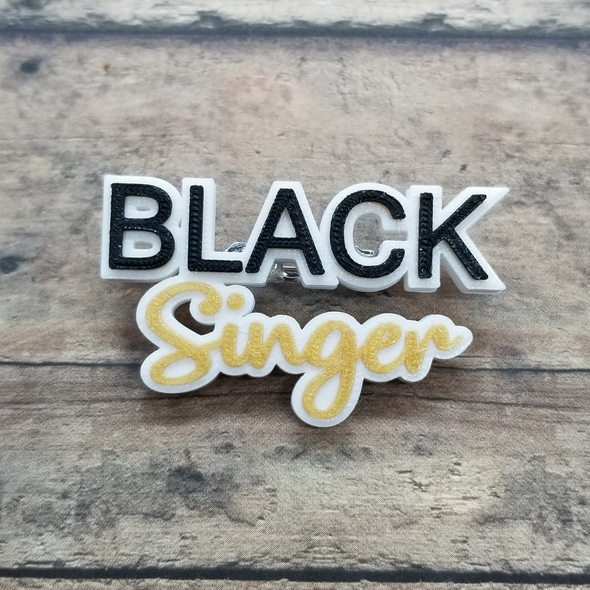 Black Singer pin