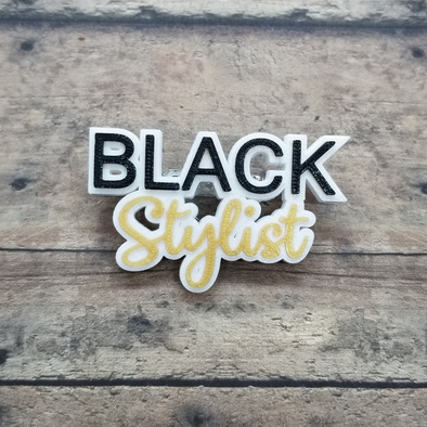 Black Stylist pin