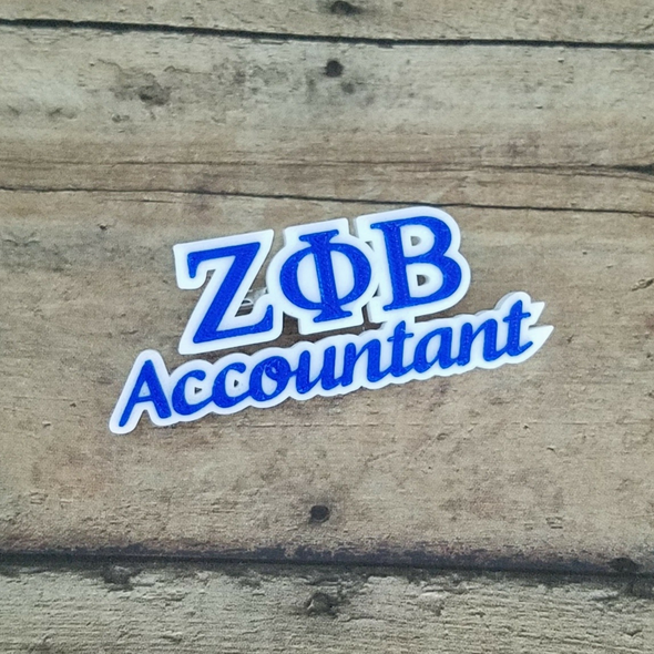 Zeta Phi Beta Accountant Pin