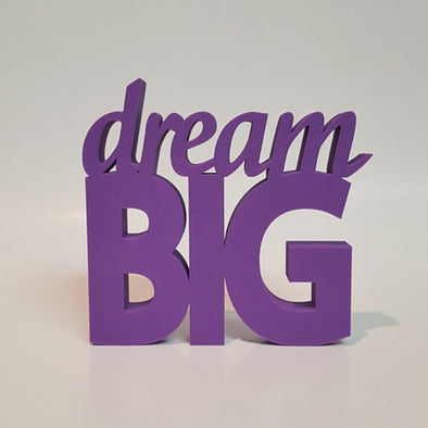 Dream Big Word Art