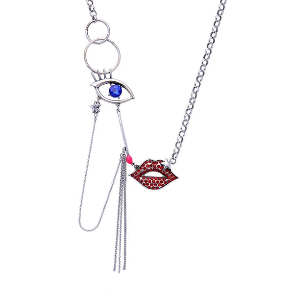 SCARLETT - Lip Pave Pendant Necklace