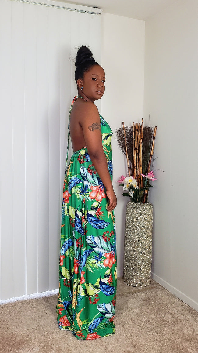 Tropical-Maxi-Dress-green