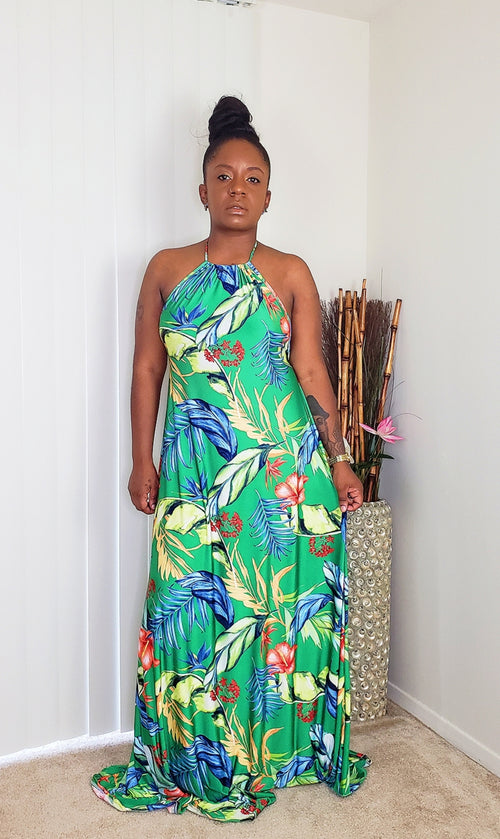 Tropical-Maxi-Dress