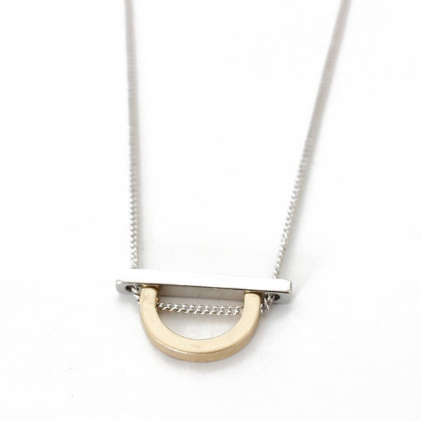 DONYA - Geo Chain Pendant Necklace