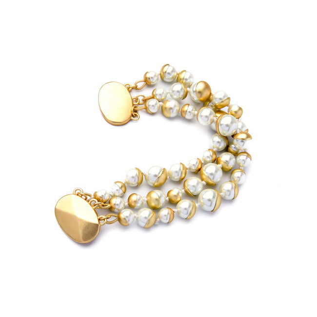 Triple-Layer-Pearl-Bracelet-women