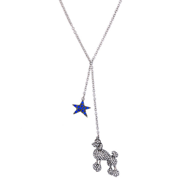 *CRESA - Poodle Lariat Necklace