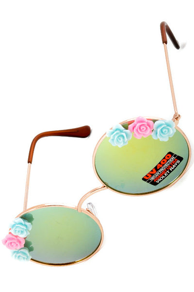 FREDDY - Retro Round Flower Shades
