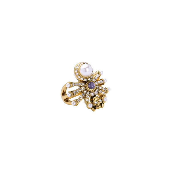 RONIE - Spider Skull Pearl Ring