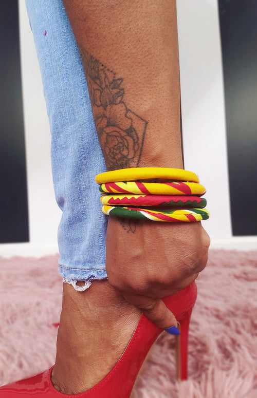 Tribal-Print-Rope-Bracelet-yellow