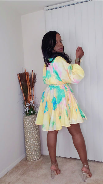 Tie-Dye-fit-and-Flare-Dress