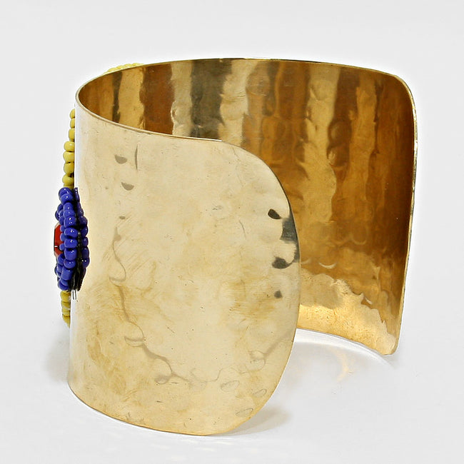 WINNIE - African Beaded Disc Cuff
