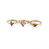 TALIA - Multi Sweetheart Tribal Stone Ring Set