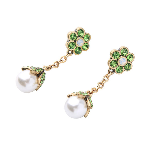 VINITA - Vine Pearl Earrings