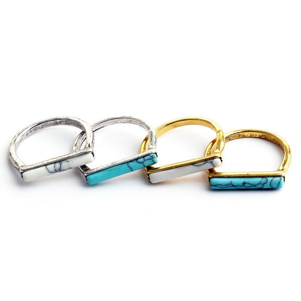 Turquoise-Bar-Stackable-Ring
