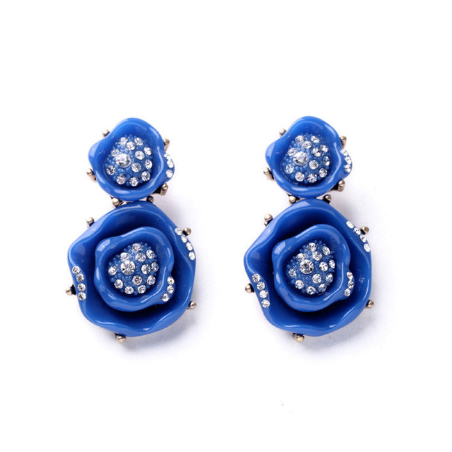 AVIA - 3D Rose Pendant Earrings