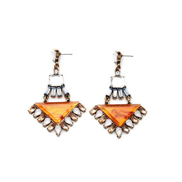 GIA - Aztec Pyramid Earrings
