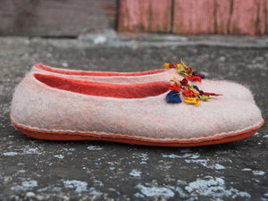 BureBure hand made slippers with colorful silk decoration, perfect gift for mom