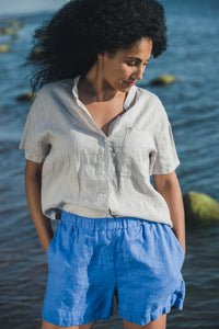 Linen Shorts with Pockets
