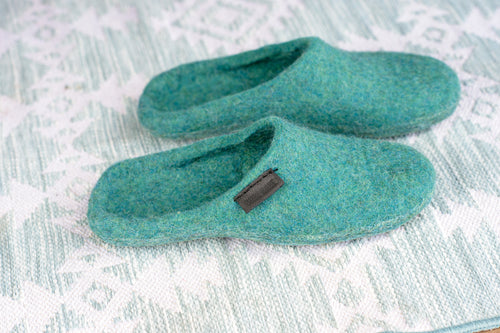 Blue lagoon slip on slippers