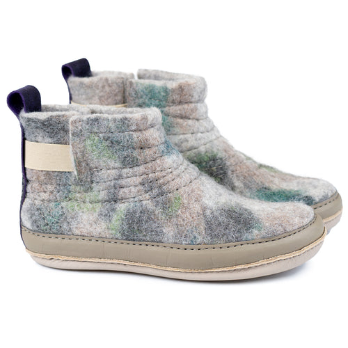 Camouflage WOOBOOT mid with mid-sole protection and pull loop