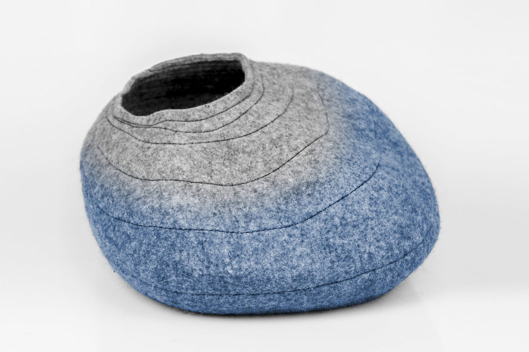 Cat house COCOON Ombre Grey/Blue