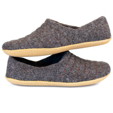 Load image into Gallery viewer, Dark Brown COCOON woolen slippers with sturdy stitching on surface