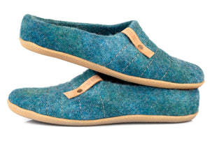 Ocean blue COCOON easy slip on low back clogs
