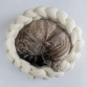 Cat bed CHUNKY White/Sienna