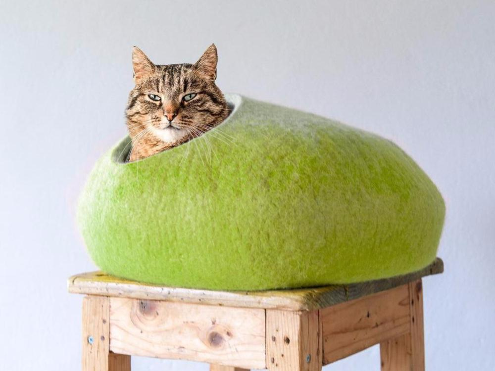 Cat house OMBRE White/Green
