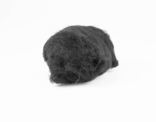 Black Wool for Wet Felting, Tyrolean Bergschaf