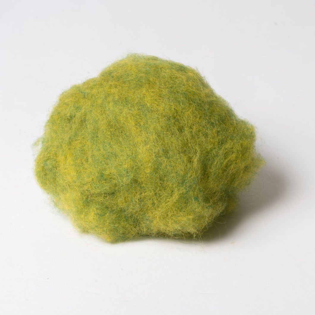 Apple Green Wool for Wet Felting, Tyrolean Bergschaf from BureBure