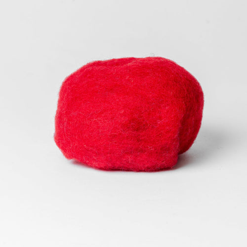 Red Wool for Wet Felting, Tyrolean Bergschaf