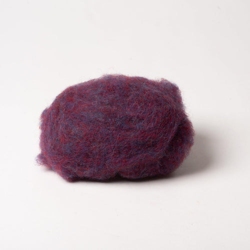 Plum Wool for Wet Felting, Tyrolean Bergschaf