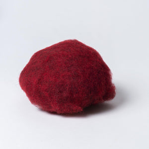 Dark Red Burgundy Wine Dyed Wool for Felting, Made in Europe