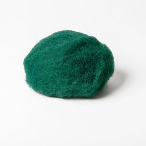 Green Ultramarine Wool for Wet Felting, Tyrolean Bergschaf