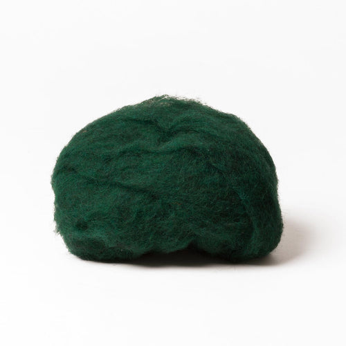 Dark Green Wool for Wet Felting, Tyrolean Bergschaf