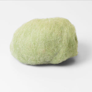 Pale Green Wet Felting Wool Batt for Shoes, Slippers, Hats makers