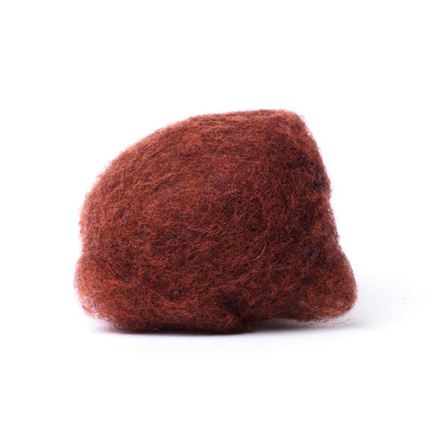 Dark Cinnamon Wool for Wet Felting, Tyrolean Bergschaf