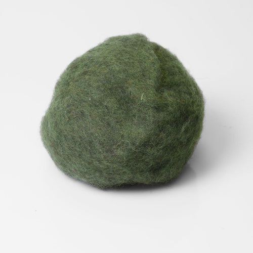 Dark Olive Wool for Wet Felting, Tyrolean Bergschaf