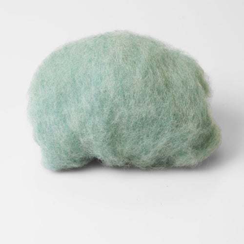 Pale Mint Wool for Wet Felting, Tyrolean Bergschaf