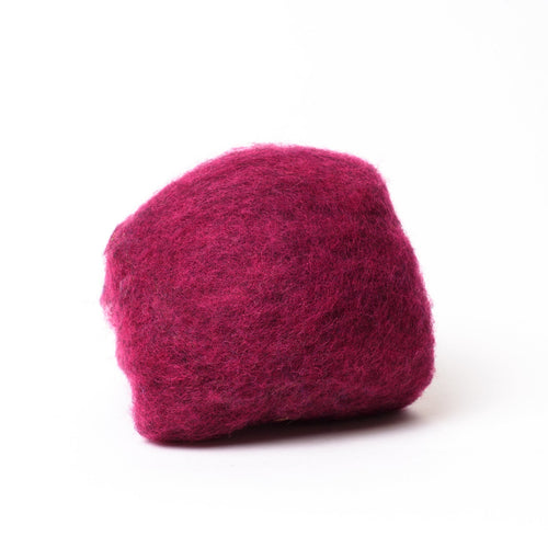 Dark Pink Wool for Wet Felting, Tyrolean Bergschaf