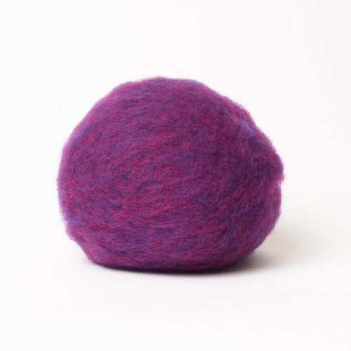 Dark Magenta Wool for Wet Felting, Tyrolean Bergschaf