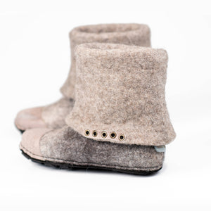 Natural Grey Alpaca ankle boots
