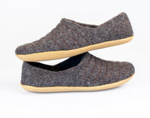 Load image into Gallery viewer, Dark Gray COCOON woolen slippers with durable stitching on surface