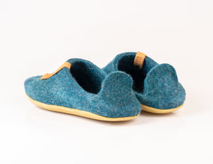 Hand felted woolen Fresh ocean 2in1 slippers
